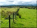 NS4884 : Fence near Aucheneck trig point by Lairich Rig