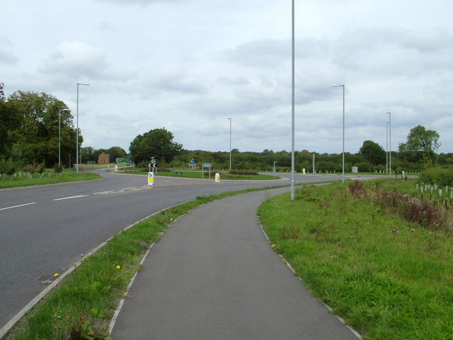 Roundabout on the A606 - Langham end