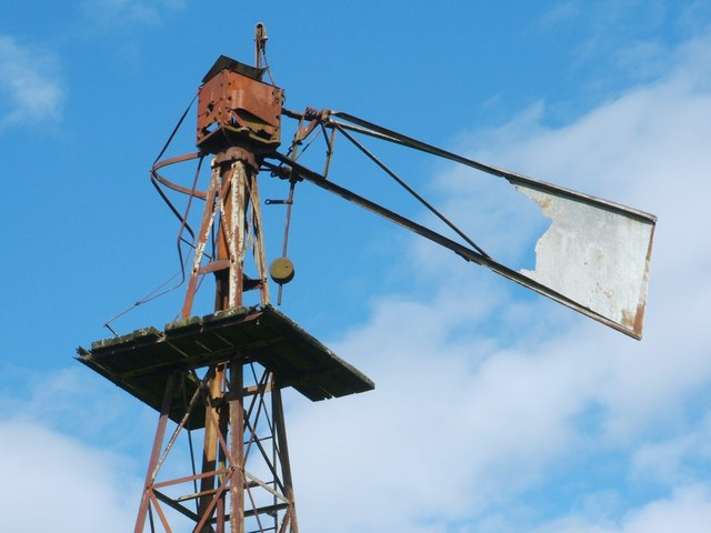 Old windpump (detail from top)