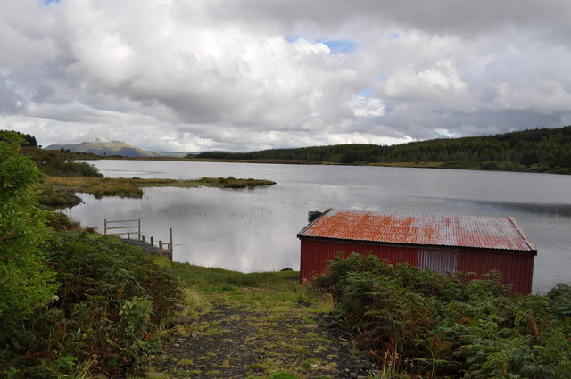 Boat shed on the loch
