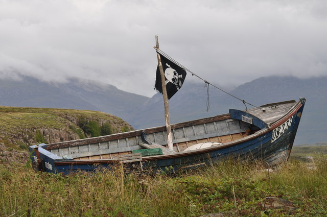 Abandoned boat on Ulva