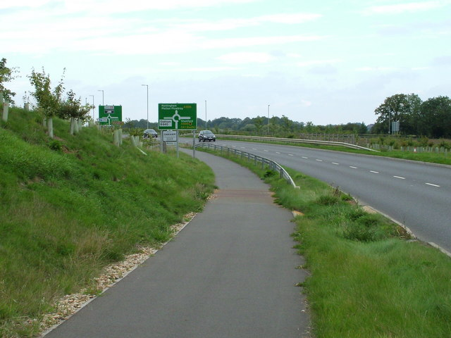 Stamford Road roundabout on the Oakham bypass