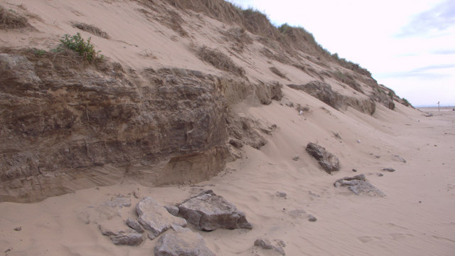 Dune erosion at Formby Point