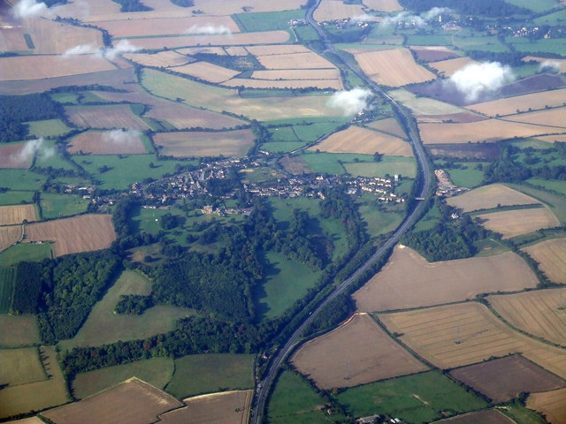 Great Offley from the air