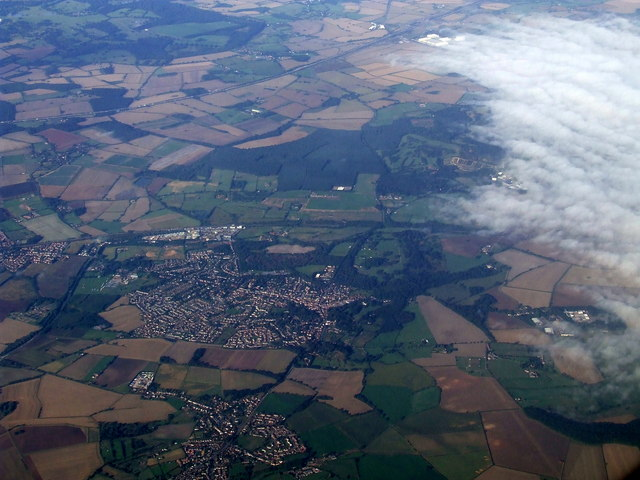 Ampthill and Maulden from the air