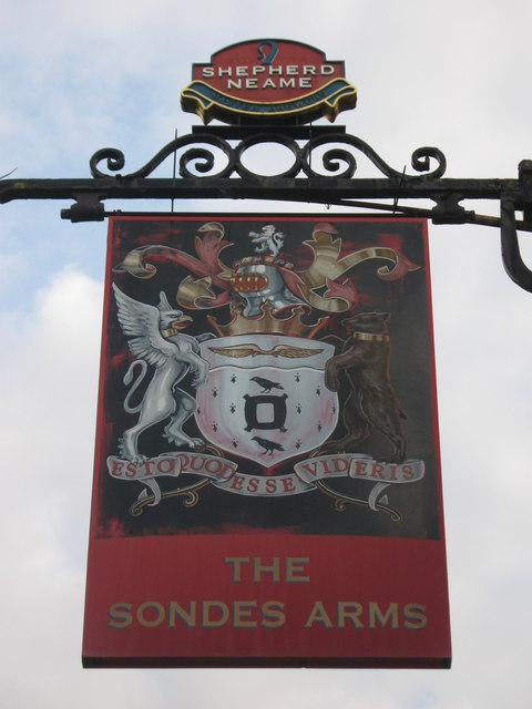 The Sondes Arms, Pub Sign, Selling