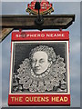 TR0559 : The Queens Head, Pub Sign, Boughton by David Anstiss