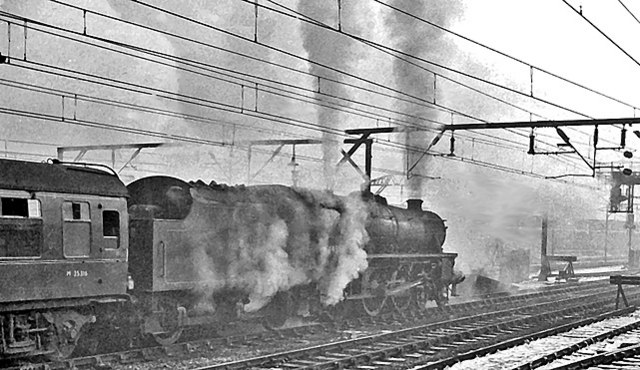 Winter at Crewe in the later Steam days