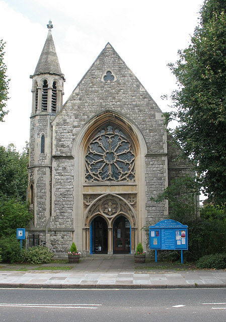 Holy Trinity church, Barnes: west end