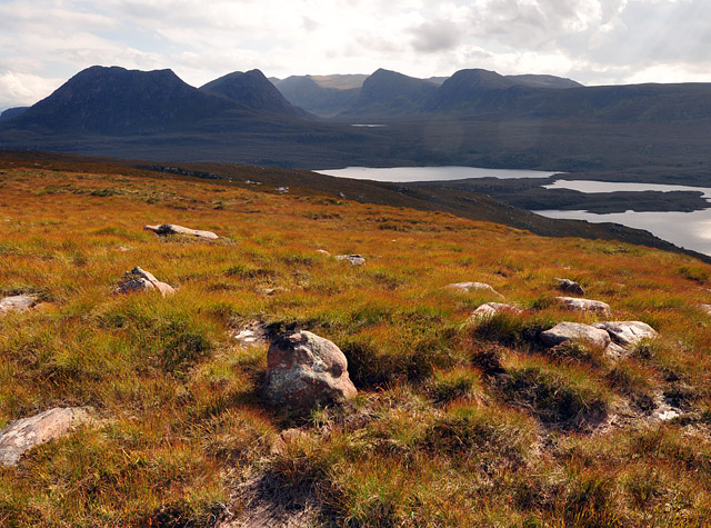 Druim Bad A' Ghaill, near top of ridge