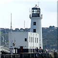 TA0488 : Lighthouse, Scarborough by Dave Hitchborne