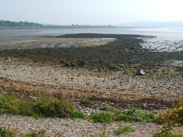 Old landing place and ballast mound