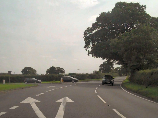 A49/A534 Junction At Ridley Green