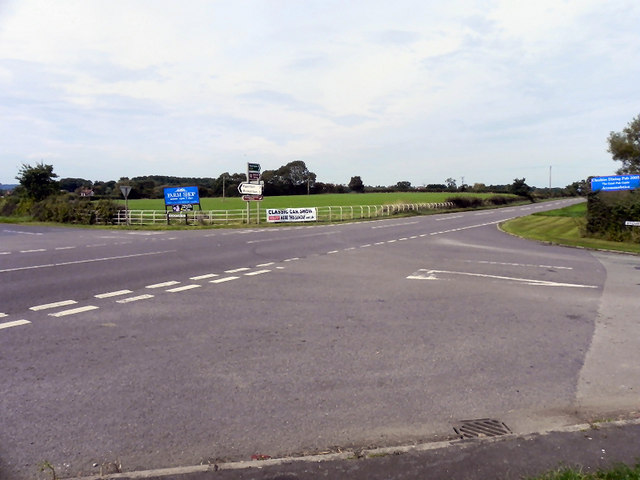 Junction Of Wrenbury Road With The A49