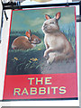 TQ5877 : The Rabbits sign by Oast House Archive