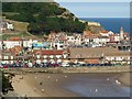 TA0488 : Panorama of South Bay and Harbour, Scarborough #3 of 3 by Dave Hitchborne