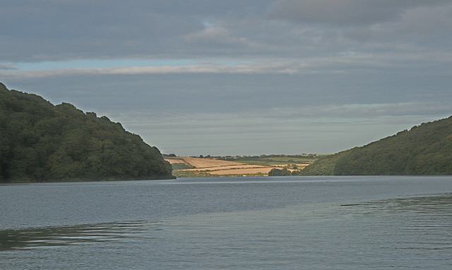 Looking up the River Fal towards Ardevora