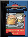 TQ8149 : Clothworkers Arms, Pub Sign, Sutton Valence by David Anstiss
