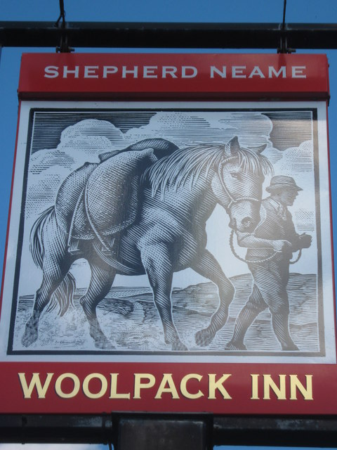 Woolpack Inn, Pub Sign, Brookland