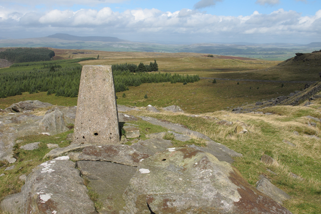Trig point on Whelp Stone Crag