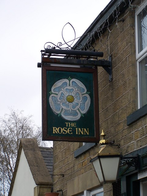 Pub Sign, Rose Inn, Thompson Hill, High Green