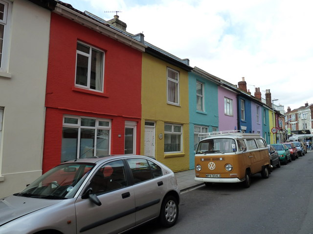 VW camper van in Exmouth Road