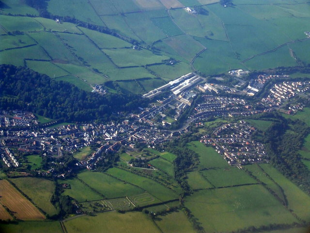 Newmilns from the air