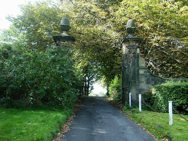 Gate Piers to Old Heath Hall
