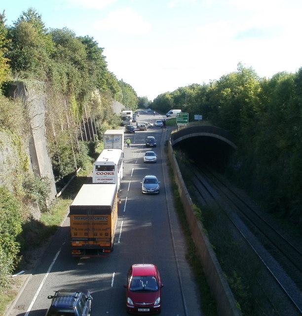 Minor Accident, A48, Tutshill © Jaggery Cc-by-sa/2.0
