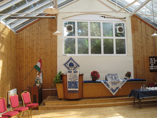 Interior of Voysey Studio fitted as Hungarian Reformed Church