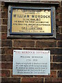Photo of William Murdock brass plaque