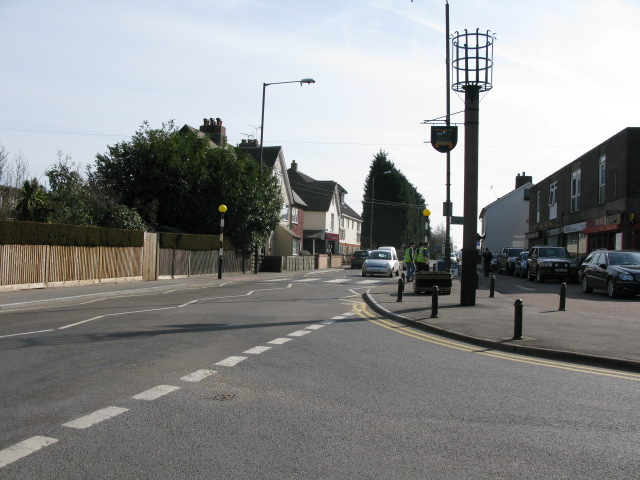 Junction of Westerhill Road with Heath Road, Coxheath