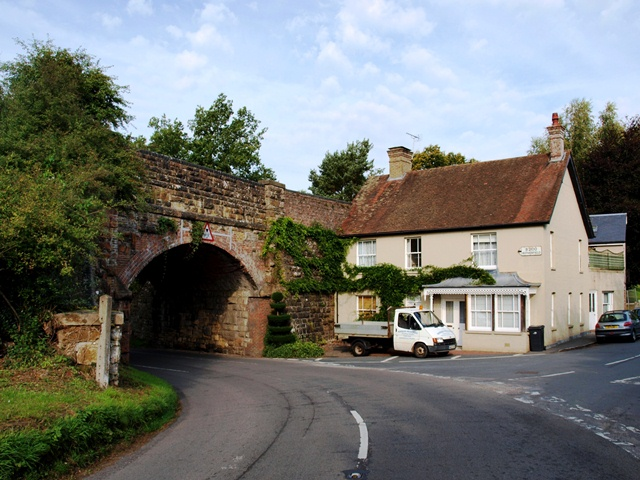 The old railway bridge at Town Row