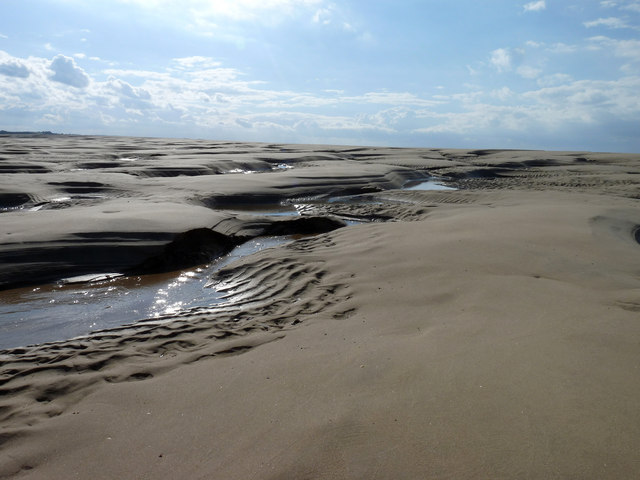 Tidal sands exposed at low tide