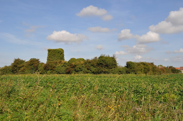 The ruin of St Andrew's church, Bircham Tofts