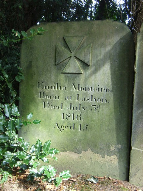 Emilio Monteiro Gravestone at  St Peters, Kirkthorpe