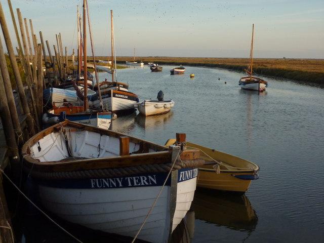 Boats, early morning, Blakeney