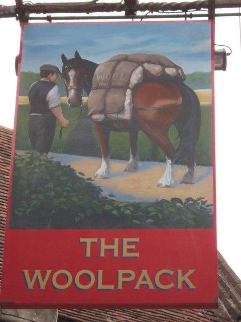 The Woolpack, Pub Sign, Chilham