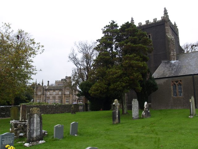 Aldingham Hall and St.Cuthbert's Church, Aldingham