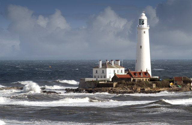 St. Mary's Lighthouse from Hartley