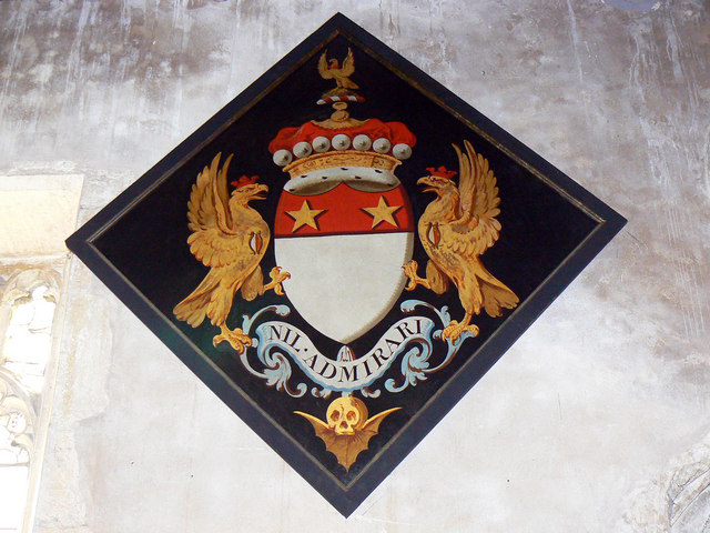 Hatchment, St Mary's Church, Lydiard Tregoze, Swindon