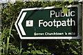 SW9942 : Gorran Churchtown: public footpath sign by Christopher Hilton
