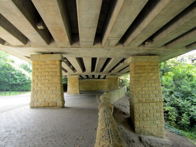 Below the road bridge, Cradlewell bypass, Jesmond