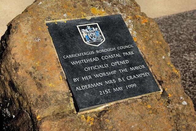 Coastal park plaque, Whitehead