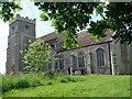 TM1350 : Barham St Mary & St Peter�s church by Adrian S Pye