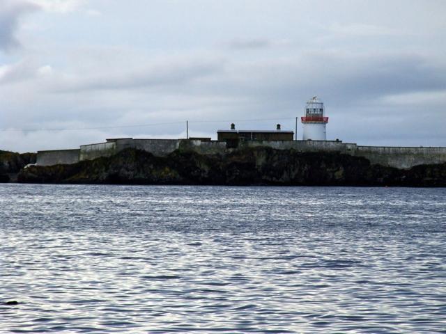 Rotten Island Lighthouse from the shore near Killybegs