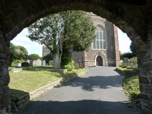 View through Lychgate, St Mary's Church