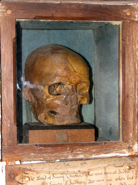 St Gregory's church in Sudbury - archbishop Simon's skull
