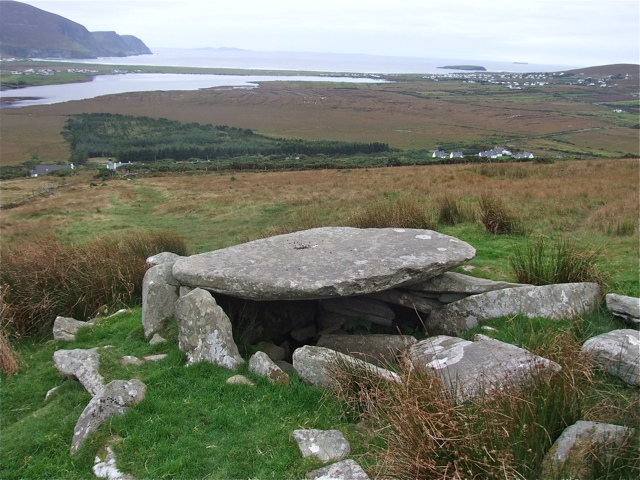 Neolithic grave on the slopes of  Slievemore, Achill Island