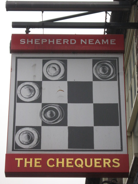 The Chequers, Pub Sign, Hoo St.Werburgh